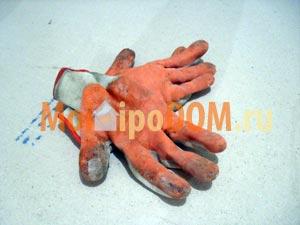 перчатки для ремонта прорезиненые