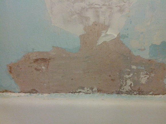 стена в ванной до покраски